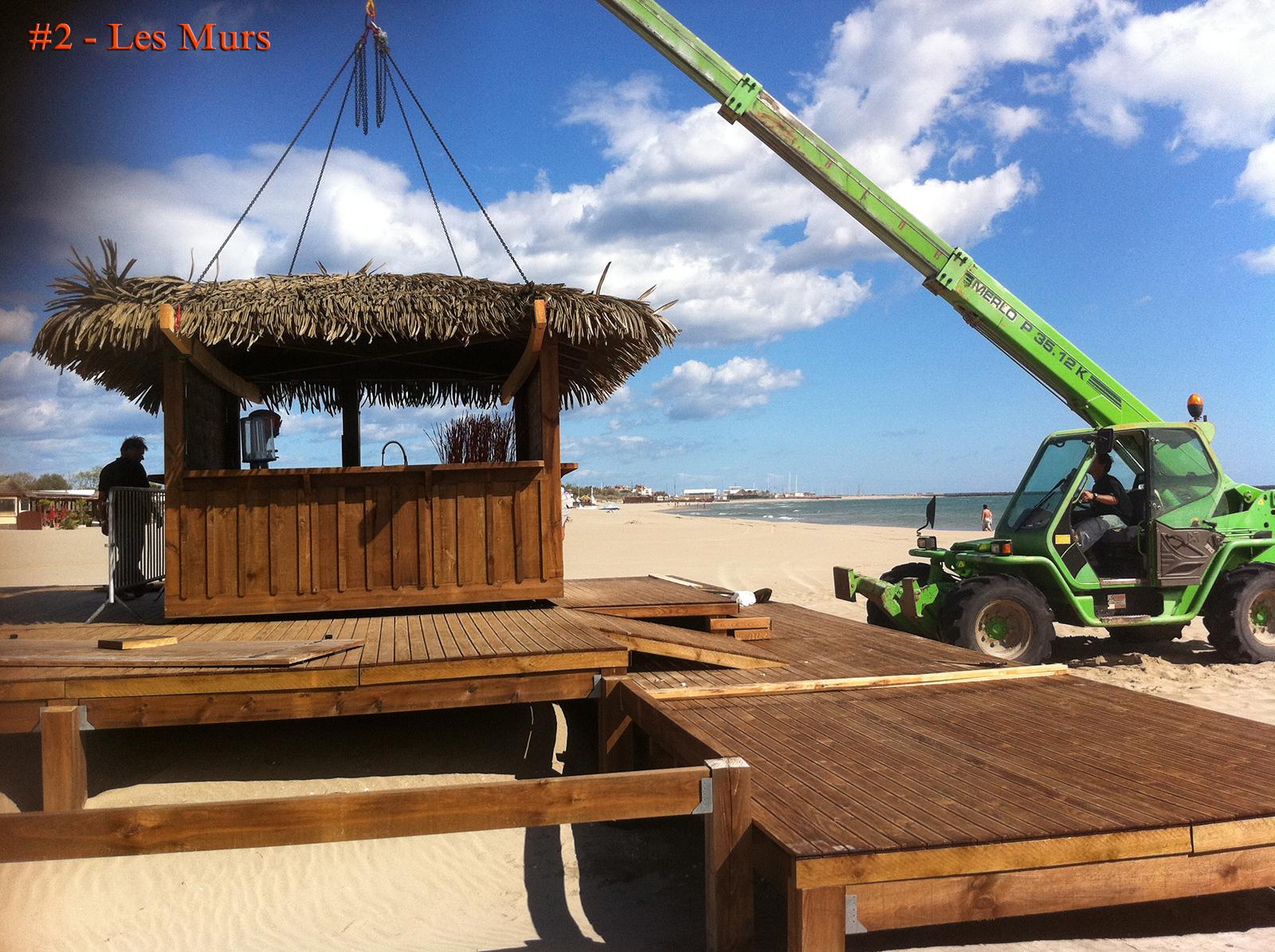 """Deuxième phase du chantier pour la plage privée """"Côté Mer"""""""